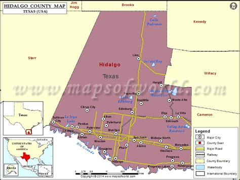 hidalgo county map map of hidalgo county