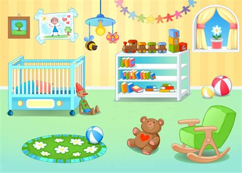 bedroom toys room vector free
