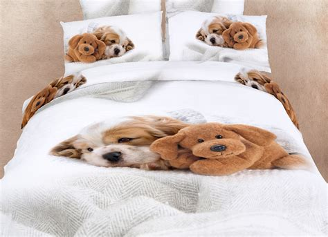 puppy comforter set animal print bedspreads and bedding doggies puppy print 3d