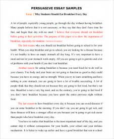 Exles Of Persuasive Essay by Persuasive Speech Exle Sles In Pdf Word