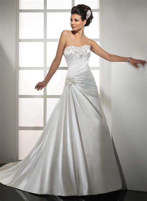 design dress satin stock design off the shoulder white satin a line wedding