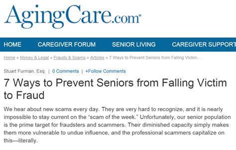 7 Ways To Prevent by 7 Ways To Prevent Seniors From Falling Victim To Fraud