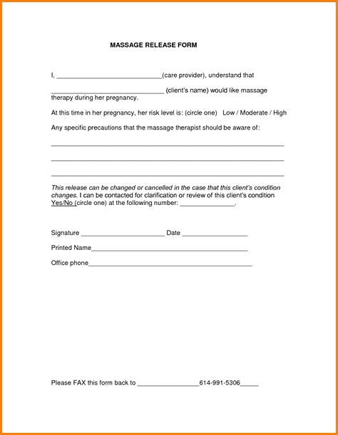 release template consent form template treatment