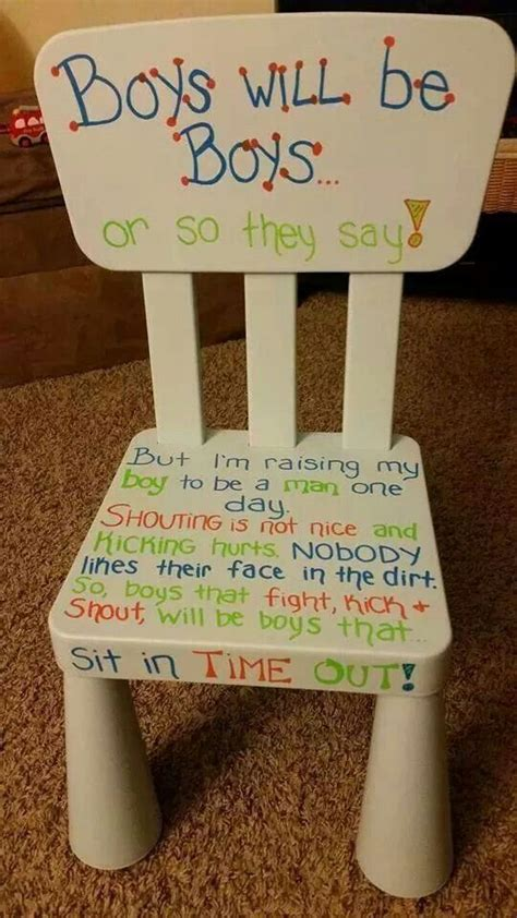 quot time out quot chair that a friend posted on i
