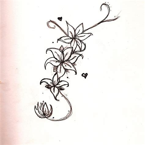 long pattern tattoo long flower design by hikariix3 on deviantart