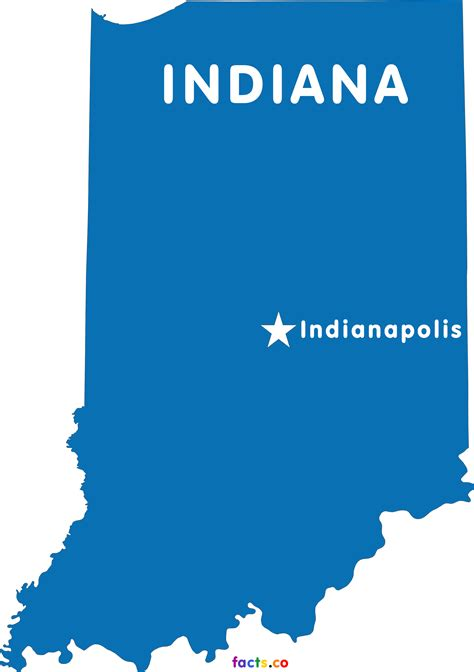 State Of Indiana Records Indiana Map Blank Political Indiana Map With Cities