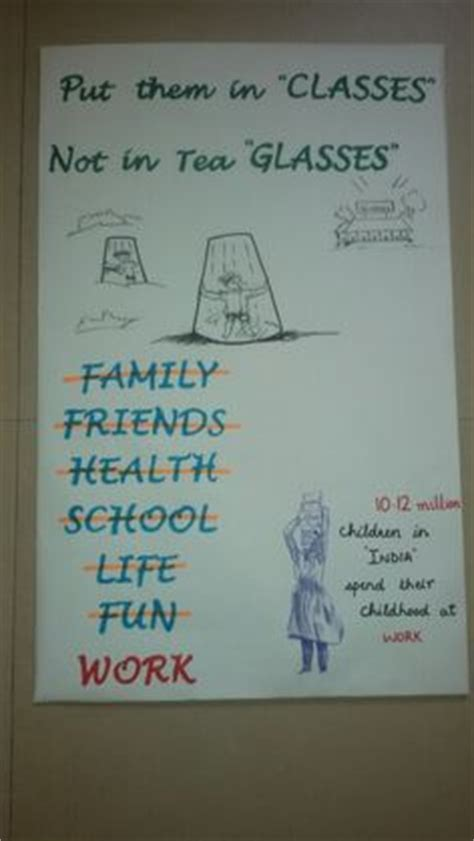 Handmade Poster On Child Labour - cleanliness swach bharat poster ideas for nift nid