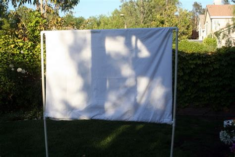 backyard movie screen summer c make your own backyard movie screen host a