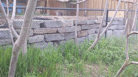 retaining wall in backyard backyard retaining wall solid concrete solutions