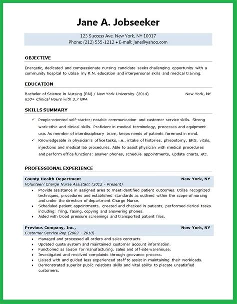 Resume Nursing by 25 Best Ideas About Rn Resume On Registered