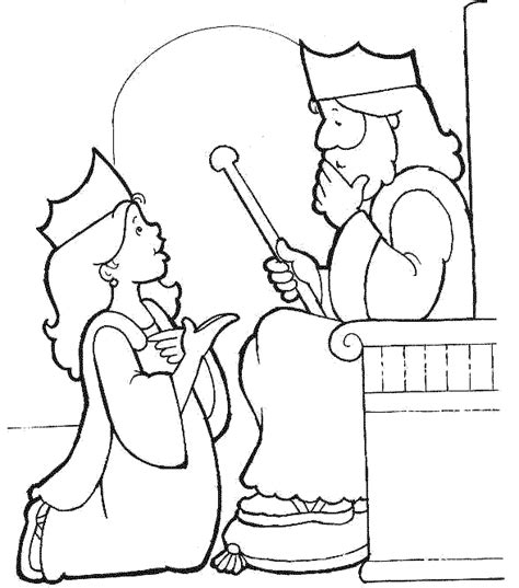 Coloring Page Esther by Esther Before The King Esther 5 Paper Printable