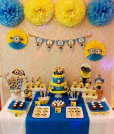 minion birthday decorations 5 ideas para celebrar un cumplea 241 os de minions