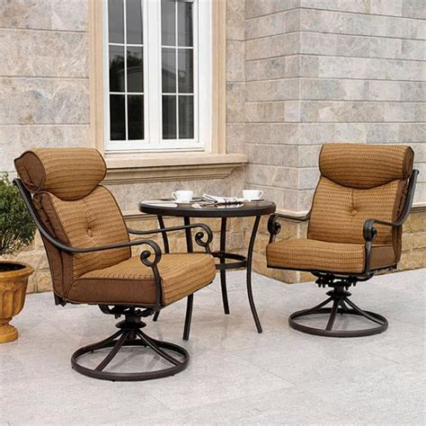 Patio Chairs Walmart Better Homes Gardens 3 Outdoor Furniture Bistro Set Walmart
