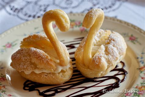 Cream Puff Swan Recipe Barbara Bakes Choux Swans Template