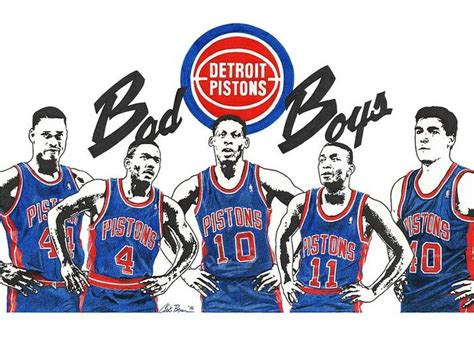 Chris Brown Birthday Card Detroit Bad Boys Pistons Greeting Card For Sale By Chris Brown