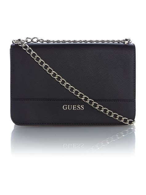 Guess Color Leather Black lyst guess black small crossbody bag in black