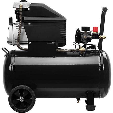 jobsmart 10 gal horizontal tank portable lubricated air compressor at tractor supply co