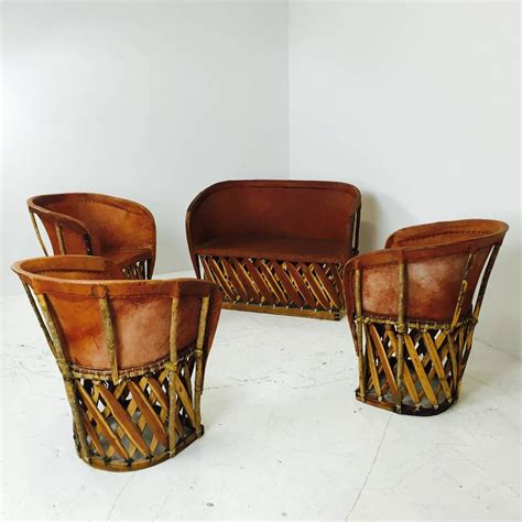 vintage mexican equipale settee  chairs  sale  stdibs