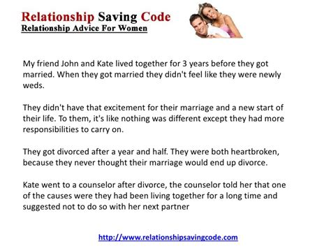 Co Habitating Before Marriage Where To Draw The Line by Living Together Before Marriage Can Be The Cause