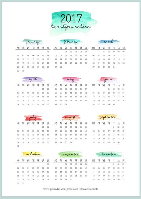 printable calendar at a glance best 20 2017 yearly calendar ideas on pinterest yearly