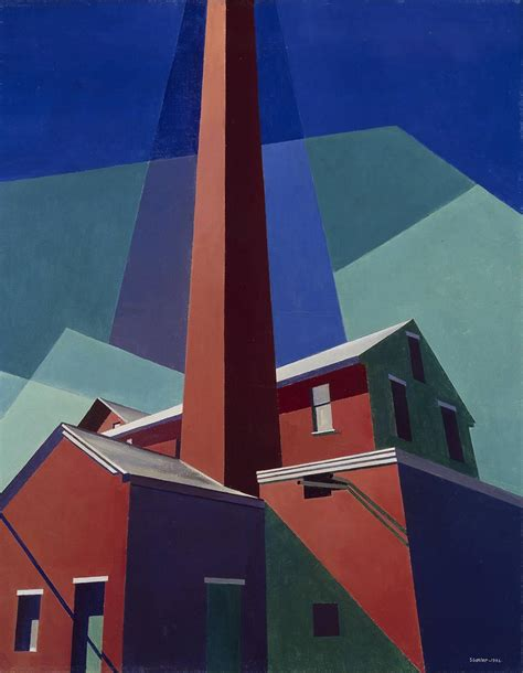 Low Country Style by Ballardvale 1946 Charles Sheeler Wikiart Org