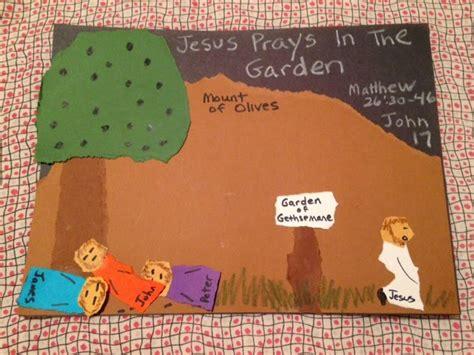 garden of gethsemane craft matthew 26 30 46 learning about jesus praying fervently