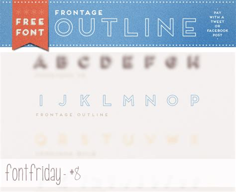 Frontage Outline Otf by Frontage Font