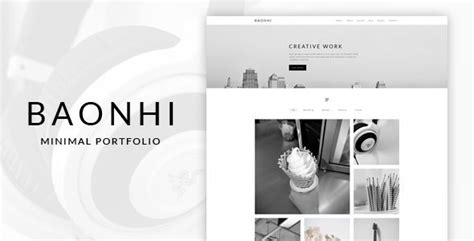 themeforest quality standards baonhi minimal portfolio wordpress theme download