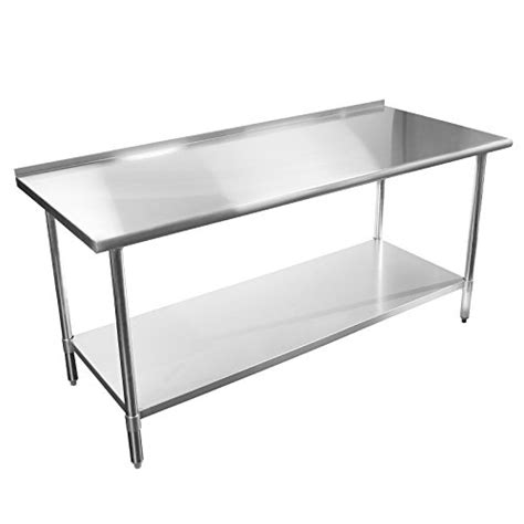 Industrial Kitchen Table Stainless Steel Gridmann Stainless Steel Commercial Kitchen Prep Work Table W Backsplash 30 Quot X 24