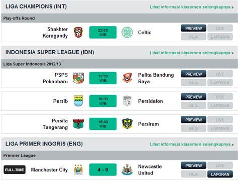 jadwal bola hari ini agustus 2013 topscore and news