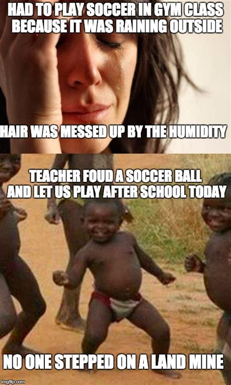 Third World Success Kid Meme - it s all a matter of perspective imgflip
