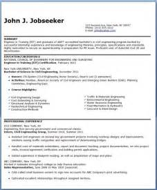 Resume Titles Sles by Resume Title Exles For Freshers
