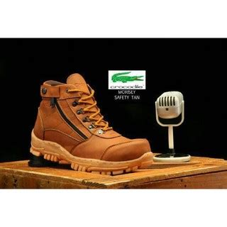 Sepatu Pria Crocodile Cordia Safety Boots Ujung Besi Trendy sepatu boots pria crocodile morisey safety ujung besi