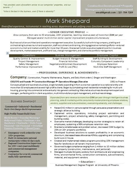 Entrepreneur Resume by Entrepreneur Resume Sle Best Professional Resumes