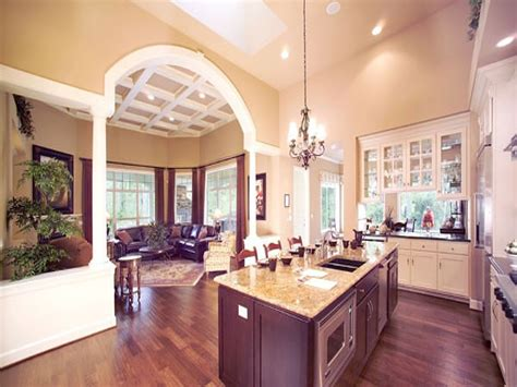 Open Floor Plans With Large Kitchens | house plans with large kitchens large open floor plans