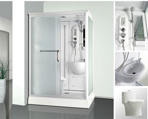 temporary bathroom combo function rectangle portable shower and toilet cabin