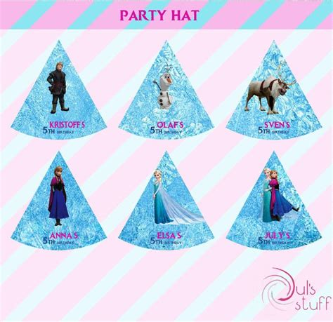 printable frozen hats printable frozen party hat frozen party frozen and hats