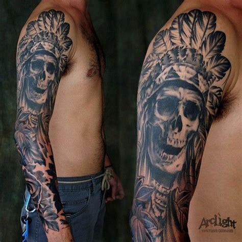 17 best ideas about indian skull tattoos on pinterest