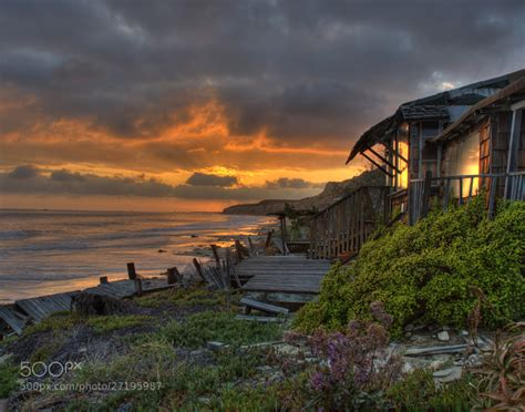 Cove Cottage by Cove Cottage Sunset By Pat Dwyer