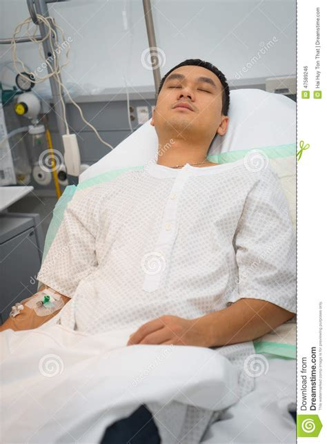 guy in hospital bed man in hospital bed asleep stock photo image 47589246