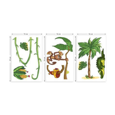large jungle wall stickers large jungle animals pack one wall stickers by the binary