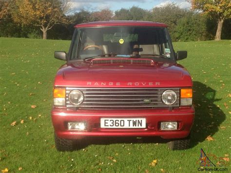 red land rover old 1987 rover range rover vogue classic v8 3 5 efi auto red