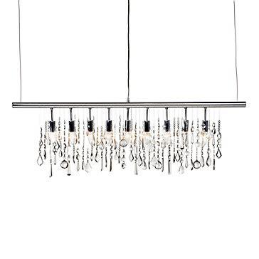 chandelier linear strand chandelier z gallerie