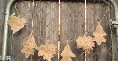 Lipstik Garland lipstick and laundry burlap leaf garland