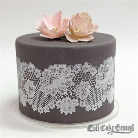 Lace Templates For Cakes by Scalloped Lace Garland Mesh Stencil