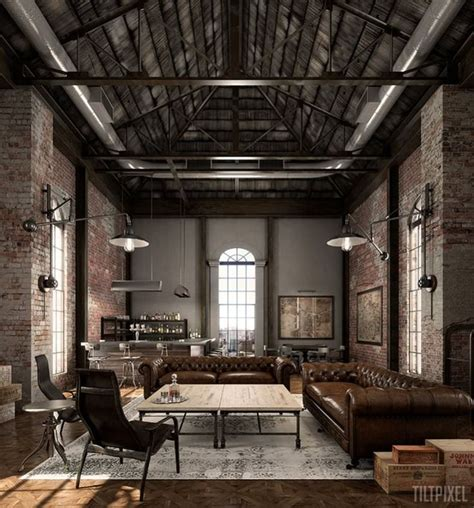 Industrial Home Interior 17 Best Ideas About Industrial Living Rooms On Pinterest Industrial Living Room And