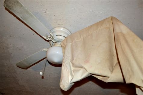 clean your ceiling fan with a pillowcase no mess