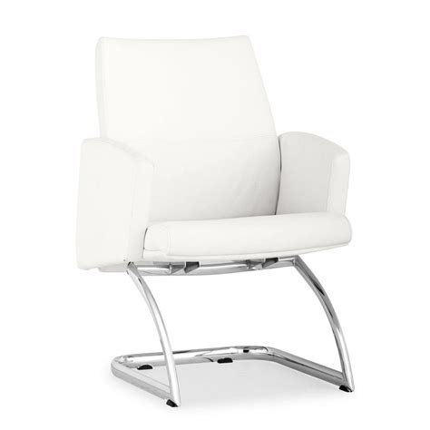 shop zuo modern chieftan white reception chair at lowes