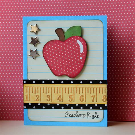 Handmade Cards For Teachers - pretty paper pretty ribbons fantabulous cricut challenge