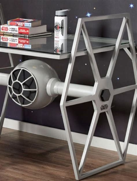 star wars desk star wars tie fighter gray desk 187 gadget flow